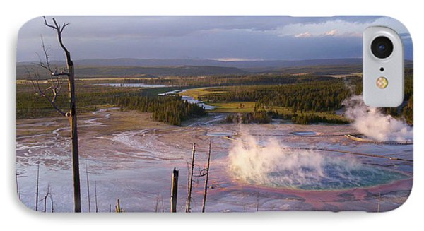 IPhone Case featuring the photograph Grand Prismatic At Dusk by Jon Emery