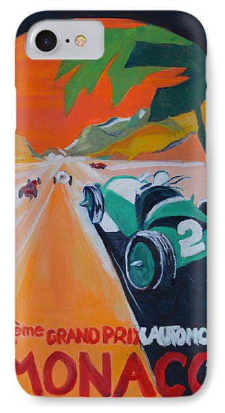 IPhone Case featuring the painting Grand Prix by Julie Todd-Cundiff