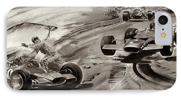 Grand Prix Problems IPhone Case by Graham Coton