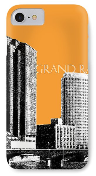 Grand Rapids Skyline - Orange IPhone Case