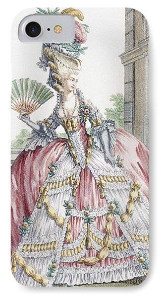 Grand Robe A La Francais, Engraved IPhone Case by Claude Louis Desrais