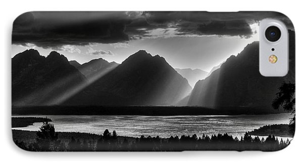 Grand Teton Light Beams IPhone Case by Aidan Moran