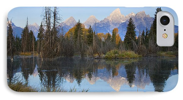 IPhone Case featuring the photograph Grand Teton Morning Reflection by Sonya Lang