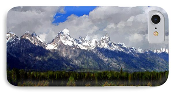 Grand Teton Mountains IPhone Case by Bruce Nutting