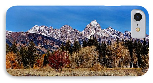 IPhone Case featuring the photograph Grand Teton Panorama by Benjamin Yeager
