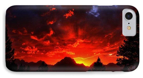 Grand Teton Sunset Phone Case by Aidan Moran