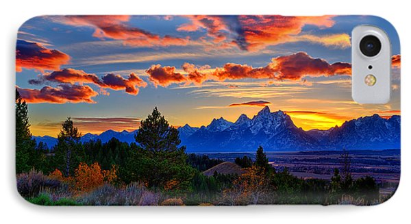 Grand Teton Sunset IPhone Case by Greg Norrell