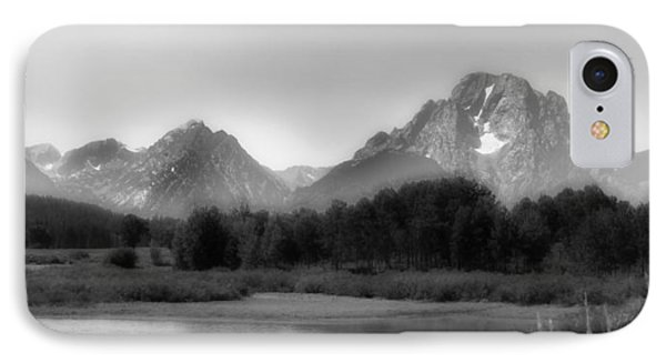 IPhone Case featuring the photograph Grand Tetons Bw by Ron White
