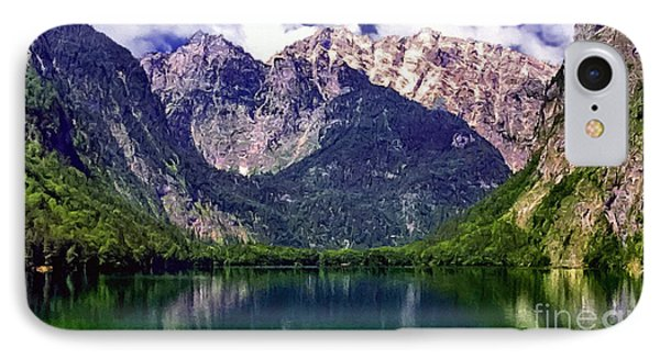 Grand Tetons National Park Painting Phone Case by Bob and Nadine Johnston