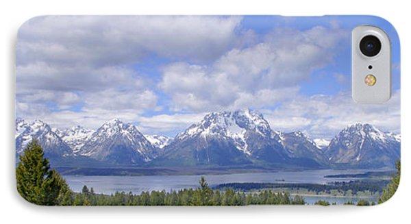 Grand Tetons Over Jackson Lake Panorama 2 Phone Case by Brian Harig