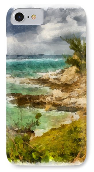 IPhone Case featuring the photograph Grand Turk North Shore Vertical by Michael Flood