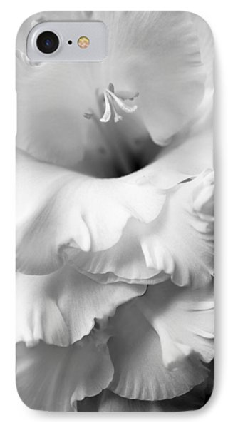 Grandiose Gladiola Flower Monochrome  Phone Case by Jennie Marie Schell