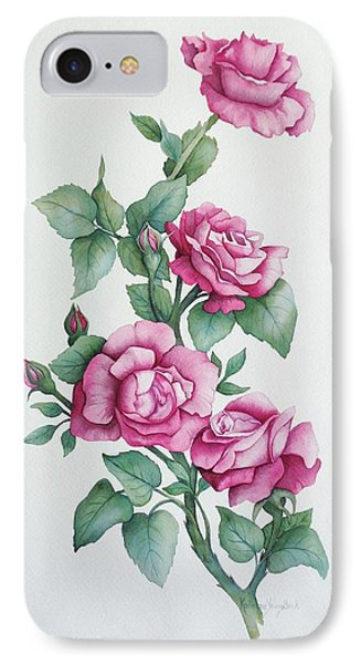 IPhone Case featuring the painting Grandma Helen's Roses by Katherine Young-Beck