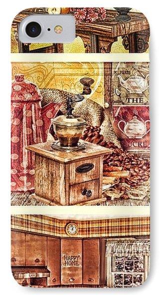 Grandma Kitchen Triptic IPhone Case by Mo T