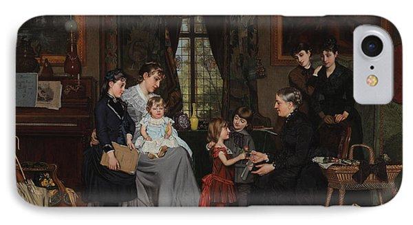 Grandmas Birthday Phone Case by Louis Edmond Pomey