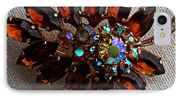 Grandmas Topaz Brooch - Treasured Heirloom Phone Case by Barbara Griffin