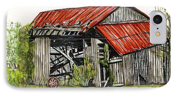Grandpa's Barn IPhone Case by Karen Wilson