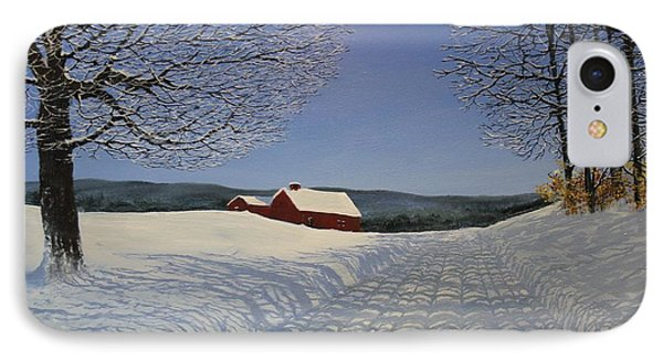 IPhone Case featuring the painting Grandpa's Farm by Ken Ahlering