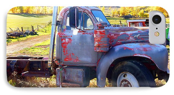 IPhone Case featuring the photograph Grandpa's Mack Truck by Jackie Carpenter