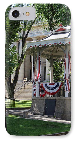 IPhone Case featuring the photograph Grandstand Patriotism  by Natalie Ortiz