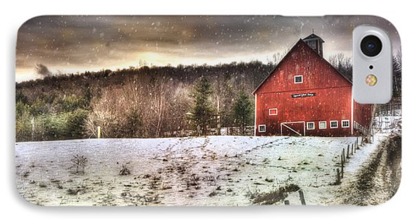 Grand View Farm - Vermont Red Barn IPhone Case
