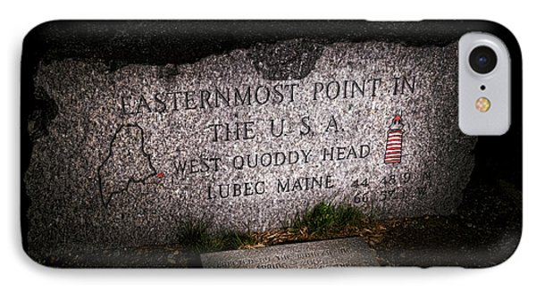 Granite Monument Quoddy Head State Park Phone Case by Marty Saccone