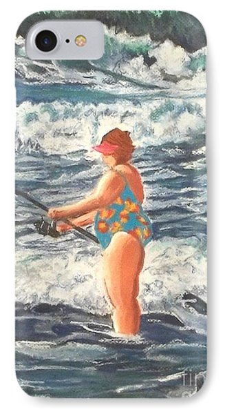 Granny Surf Fishing Phone Case by Frank Giordano