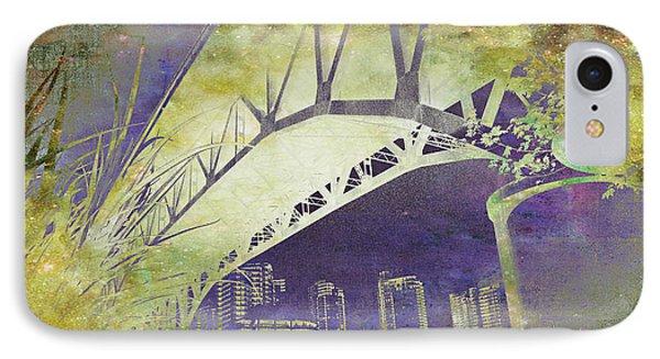 Granville Street Bridge - Inside Out IPhone Case by Kathy Bassett