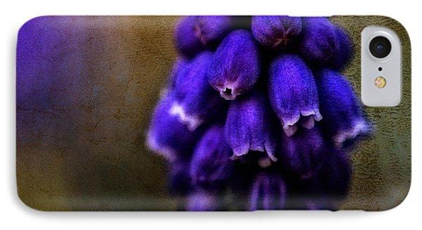 Grape Hyacinth - Textured IPhone Case