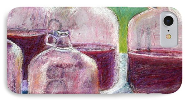 Grape Stomp Residuals Pastel IPhone Case by Antonia Citrino