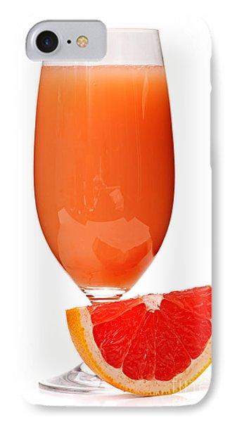 Grapefruit Juice In Glass IPhone 7 Case by Elena Elisseeva