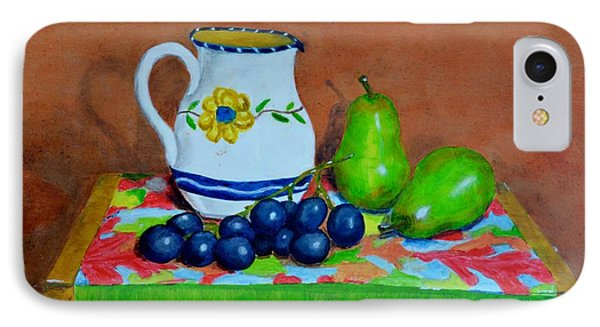 Grapes And Pairs IPhone Case by Melvin Turner