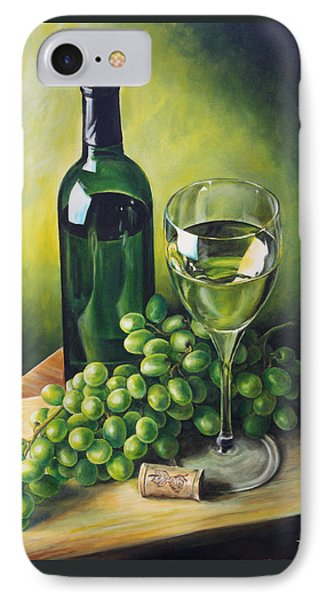 Grapes And Wine Phone Case by Kim Lockman