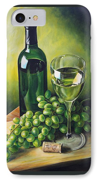 Grapes And Wine IPhone Case by Kim Lockman
