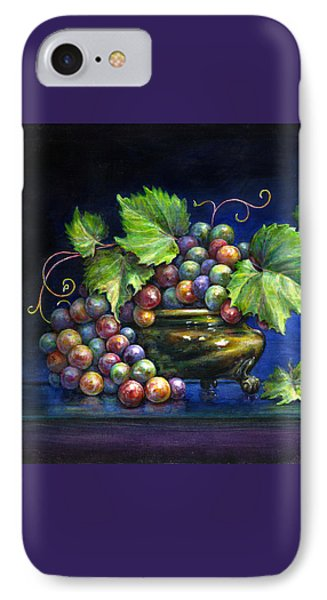 Grapes In A Footed Bowl Phone Case by Jane Bucci