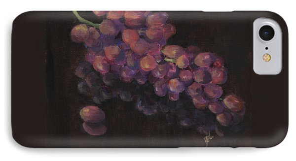 Grapes In Reflection IPhone Case by Maria Hunt