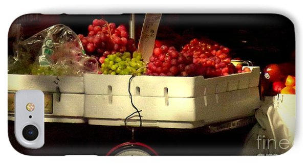 Grapes With Weighing Scale IPhone Case by Miriam Danar