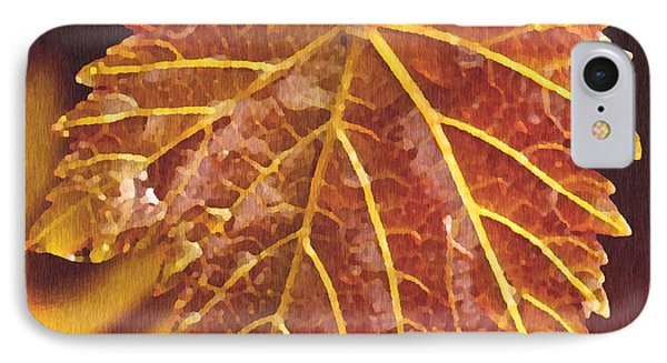 Grapevine In Fall Phone Case by Artist and Photographer Laura Wrede