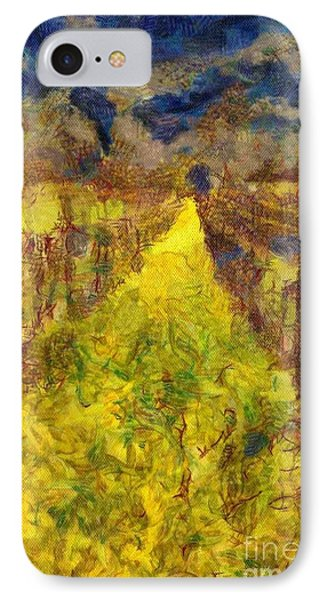Grapevines And Mustard Phone Case by Alberta Brown Buller