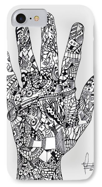 Graphic Hand IPhone Case by Yomutan Simoes