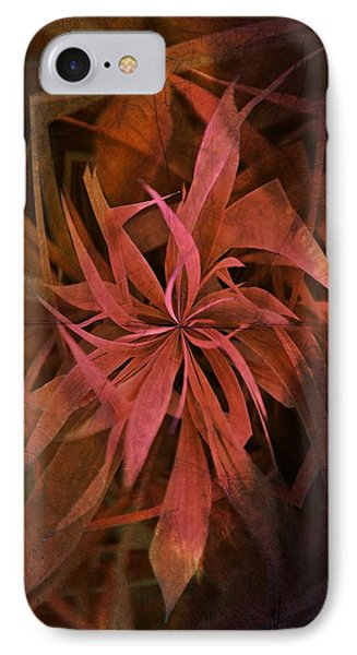 Grass Abstract - Fire IPhone Case by Marianna Mills