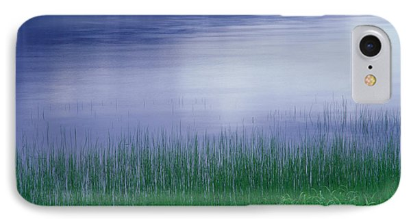 Grass Along A River, Norway IPhone Case by Panoramic Images