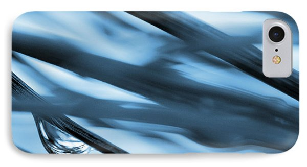Grass And Raindrop Abstract In Blue Phone Case by Natalie Kinnear