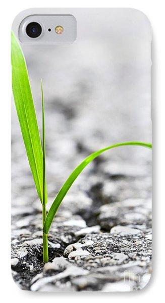 Garden iPhone 7 Case - Grass In Asphalt by Elena Elisseeva