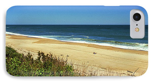 Grass On The Beach, Montauk Point IPhone Case by Panoramic Images