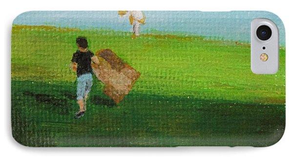 Grass Sledding  Phone Case by Amber Woodrum