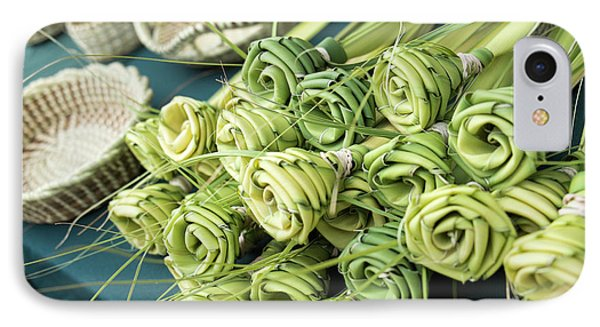 Grass Woven Roses For Sale At Market IPhone Case