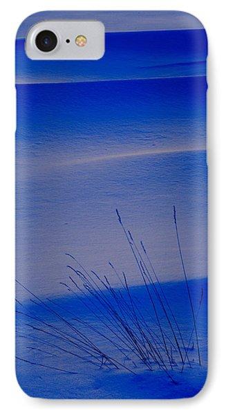 Grasses And Twilight Snow Drifts Phone Case by Irwin Barrett