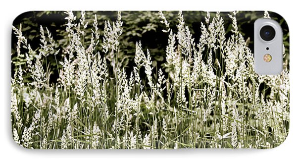IPhone Case featuring the photograph Grasses In White by Susan Crossman Buscho