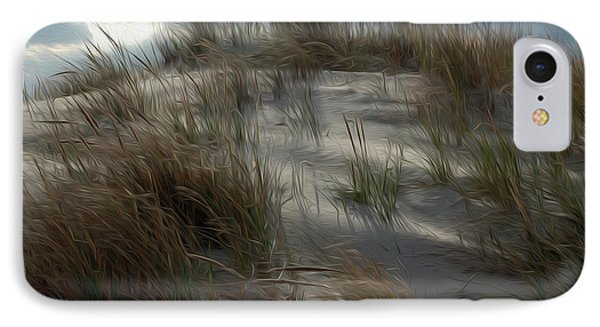 IPhone Case featuring the digital art Grassy Dunes by Kelvin Booker